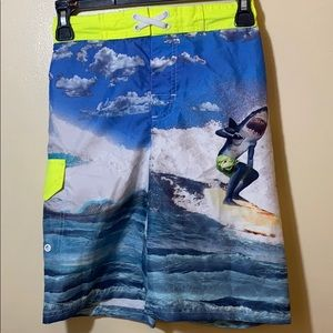 OP Boys' Shark Ocean Graphic Swim Trunks